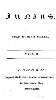 Letters of Junius, volume 2 (Woodfall, 1772).djvu