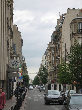 Levallois-Perret - Typical street in Levallois