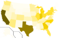 Libertarian Party presidential election results, 2008, raw vote count (United States of America).png