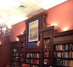 Philomathean Society - The Philomathean Library, featuring books donated throughout the Society's two century existence