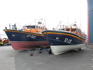 Salcombe Lifeboat Station - Image: Lifeboats at Poole Depot 47 022 and 12 25