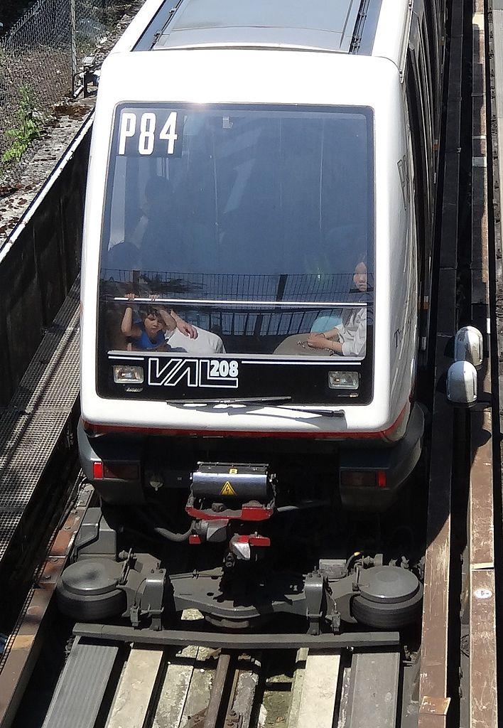 Lille, franciaország, automata metró, VAL, VAL 206, VAL 208