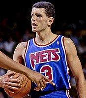 b055cda5e Basketball Hall-of-Famer Dražen Petrović played three seasons with the Nets  before he was killed in a car crash. His number 3 jersey has been retired  by the ...