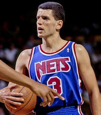 Dražen Petrović - Petrović with the New Jersey Nets in 1992