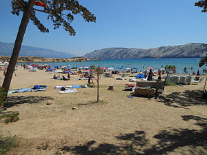 Lopar, Croatia - Livacina Beach next to Paradise Beach in Lopar