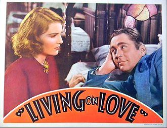 Living on Love - Lobby card