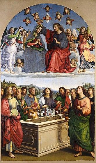 Lo Spagna - Image: Lo Spagna Coronación de la Virgen 1507 P Vaticana