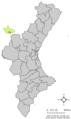 Localització de Casas Altas respecte del País Valencià.png
