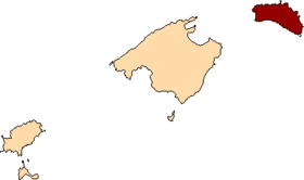 Localització de Menorca respecte les Illes Balears