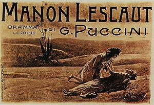 Manon Lescaut (Puccini) - Postcard commemorating the premiere