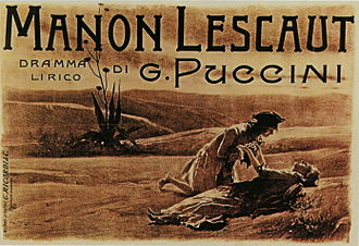 Manon Lescaut (Puccini) - Postcard commemorating the premiere