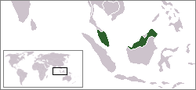 A map showing the location of Malaysia