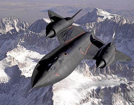 The USAF's SR-71 Blackbird was developed from the CIA's A-12 OXCART. Lockheed SR-71 Blackbird.jpg