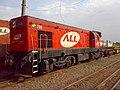 Locomotiva estacionada no pátio da Estação Ferroviária de Itu - Variante Boa Vista-Guaianã km 202 - panoramio.jpg