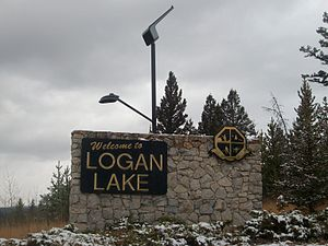 Logan Lake - Logan Lake's welcome sign