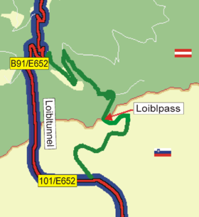 Image illustrative de l'article Col de Loïbl