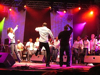 Living for Love - Usage of the London Community Gospel Choir in the song was received positively by critics