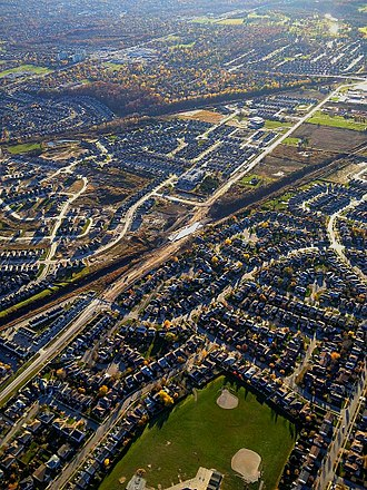 London, Ontario - Urban sprawl in suburban London
