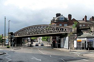 Longton, Staffordshire - The girder bridge adjacent to Longton railway station