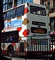 Lothian Buses bus 635 Dennis Trident Plaxton President SK52 OGT Harlequin livery.jpg