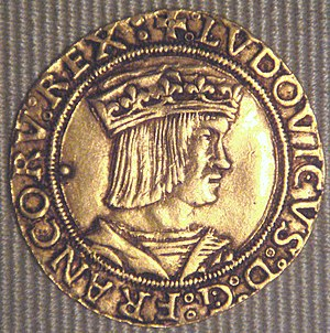 Louis XII of France - Louis XII on a coin of 1514