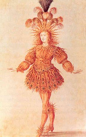 Divine right of kings - Louis XIV of France depicted as the Sun King.