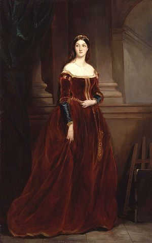 Henry Beresford, 3rd Marquess of Waterford - Henry Beresford's wife Louisa, by Francis Grant, 1859