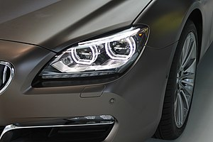 Daytime running lamp - LED DRLs on an BMW 6 Series Gran Coupe