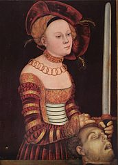 Portrait of a Lady of the Saxon Court as Judith with the Head of Holofernes