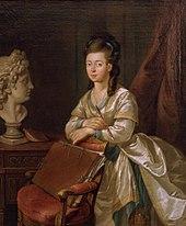 Luise von Hessen-Darmstadt (Gemälde von Georg Melchior Kraus) (Quelle: Wikimedia)
