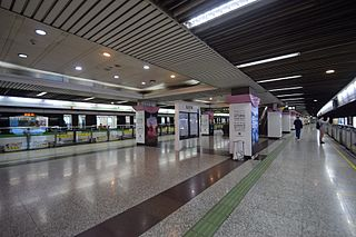 Lujiazui station Shanghai Metro station