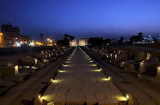 Luxor Temple - Luxor temple at night