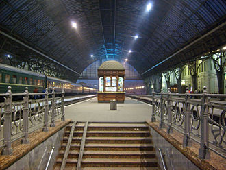 Lviv railway station - The platforms as seen today.