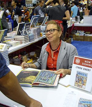 Lynda Barry - Lynda Barry signing What It Is at San Diego Comicon in 2008