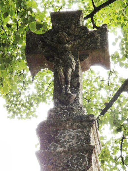Méligny-le-Petit (Meuse) croix de chemin A, détail