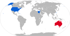 M712 Copperhead - Map with M712 operators in blue with former operators in red