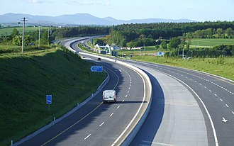 M8 motorway (Ireland) - The M8 at junction 15.