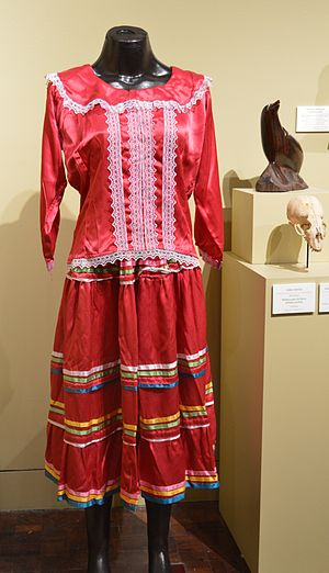 Yaqui - Traditional everyday dress worn by Yaqui women at the Museo de Arte Popular in Mexico City.