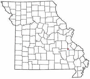 Iron Mountain, Missouri - Image: MO Map doton Iron Mountain