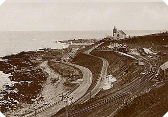 Banff, Macduff and Turriff Junction Railway - Macduff Railway station photographed prior to WW2.