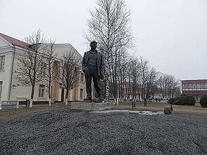 Maksim Tank - Monument to Maksim Tank in Miadziel
