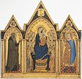 Madonna and Child Enthroned with Saints and Angels, and Saints Anthony Abbot and Venantius A18179.jpg