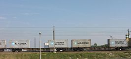 Trein met Maersk containers