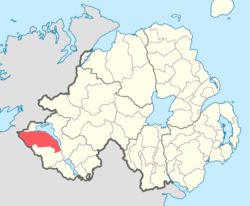 Location of Magheraboy, County Fermanagh, Northern Ireland.