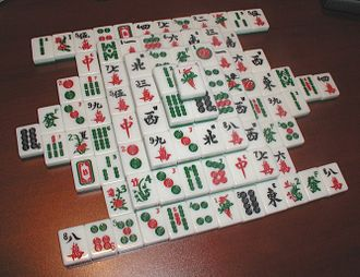 """Mahjong solitaire - A Shanghai solitaire in """"turtle formation"""""""