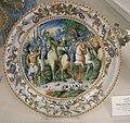 Maiolica di urbino, bottega dei fontana, manio curio dentato, 1550 ca..JPG