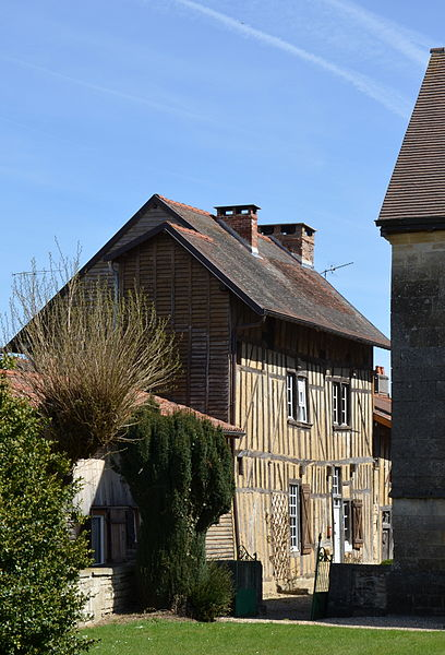 Old timber-framed house , Ceffonds, Haute-Marne, Champagne, France