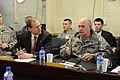 Maj.Gen. David Hogg, Combined Security Transition Command-Afghanistan (CTSC-A) deputy commander, speaks to Congressman Jack Kingston (4411739600).jpg