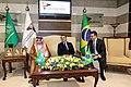 Majid bin Abdullah Al-Qasabi with Jair Messias Bolsonaro in Riyadh, October 30, 2019.jpg