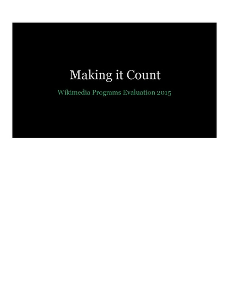 File:Making it Count- Wikimedia Programs Evaluation 2015 (Wikimania).pdf